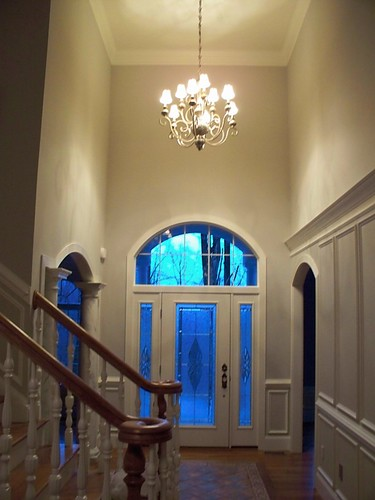 Foyer Lighting Measurements : Double height foyer chandelier beaglesdoitbetter flickr