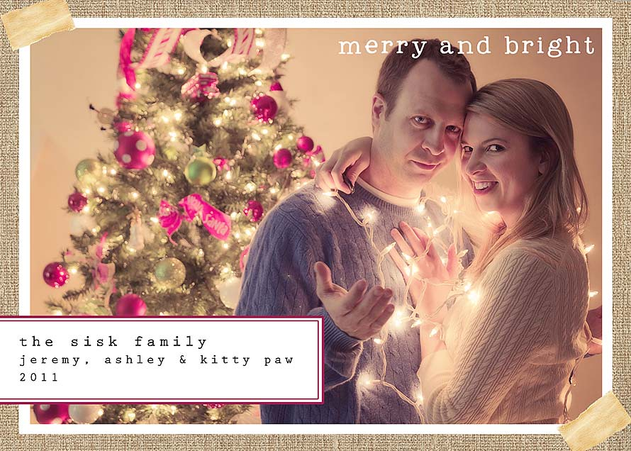 Merry and Bright: Christmas Card 2011 | Ashley Sisk | Flickr