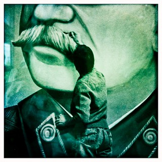 Painting the moustache of Stalin (Berlin 2011) | by ►Gallery 54
