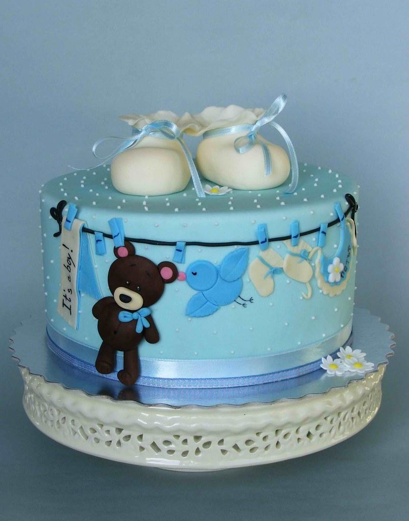 Its a boy cake For newborn baby Peter bubolinkatablogspo Flickr