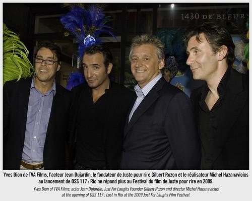 Jean dujardin et michel hazanavicius au festival du film d for Dujardin rire