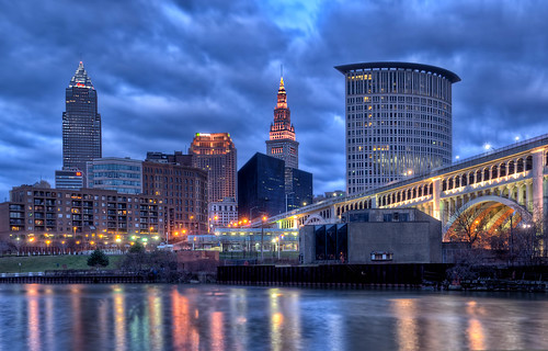Lights of Cleveland | by Tom Baker. (tombaker.photography)