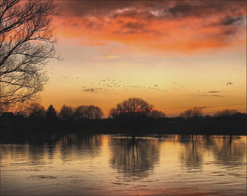 Sunset on the river Maas  /  EXPLORE  # 36 | by jac hendrix