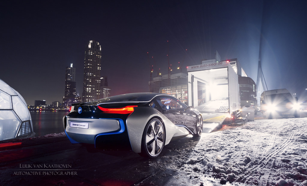 Leaving Rotterdam The Bmw I8 Concept Car Leaving A Sn Flickr