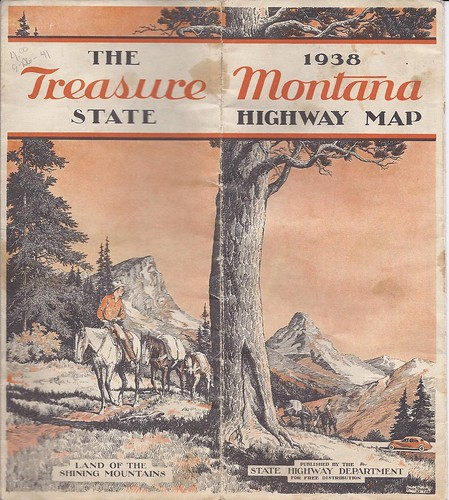 Montana Highway Map 1938 Official State