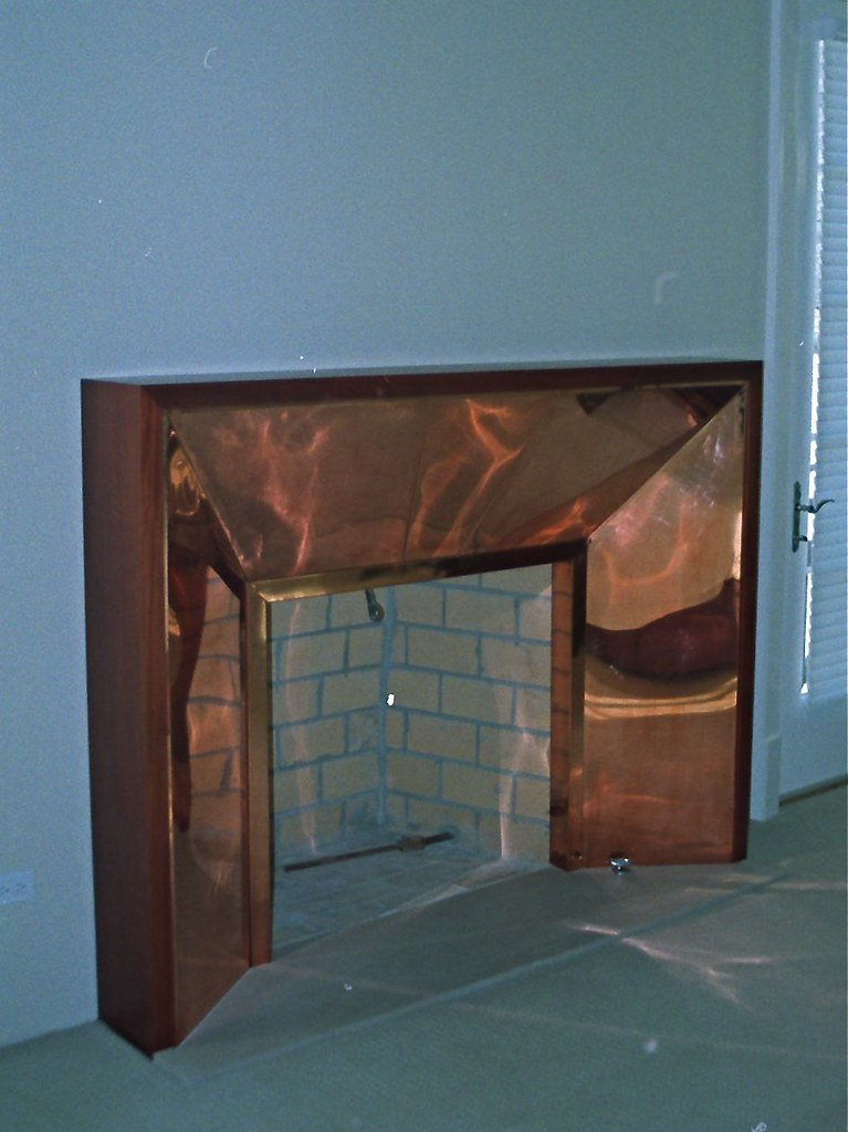 Fireplace Surround 16 oz Copper over Steel sub Framew Flickr
