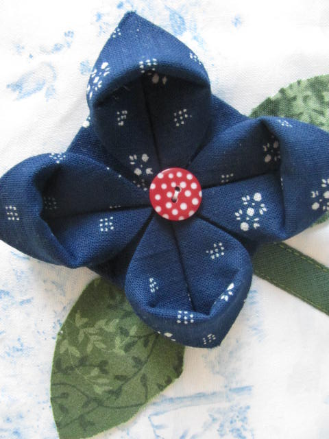 Origami folded hungarian blue fabric flowers jocelyn in budapest origami folded hungarian blue fabric flowers by jocelyn in budapest mightylinksfo