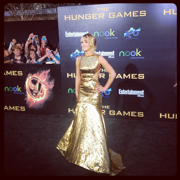 Jennifer Lawrence at the Hunger Games Premiere | Francis