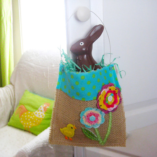 Burlap Easter Basket | by Laurie Star