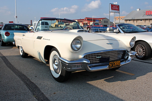 1957 Ford Thunderbird Convertible (1 of 3) | by myoldpostcards