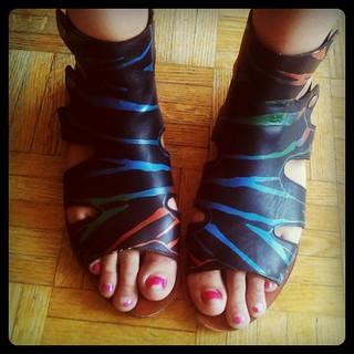 chipped polish foot fetish