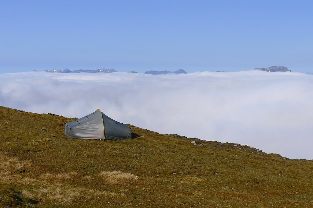 Wild camping above the inversion