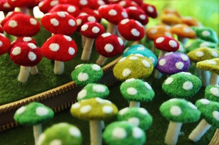 Small mushroom pins | by woolly  fabulous