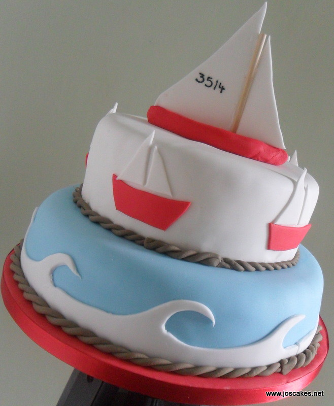 Sailing Boat Nautical Birthday Cake Nautical But Nice Thi Flickr