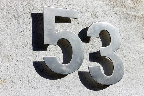 Number 53 Someone Stole Our House Numbers So The Chore