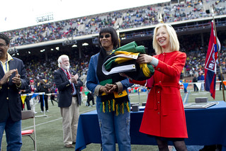 Penn President Amy Gutmann and Jamaican Prime Minister Portia Simpson Miller | by University Communications - Web