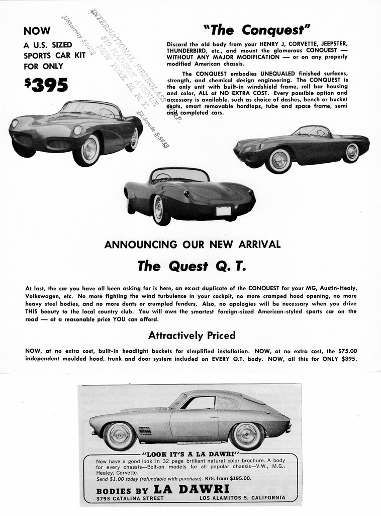 1958 & 1966 La Dawri Fiberglass Bodies Ads   Upper brochure …   Flickr