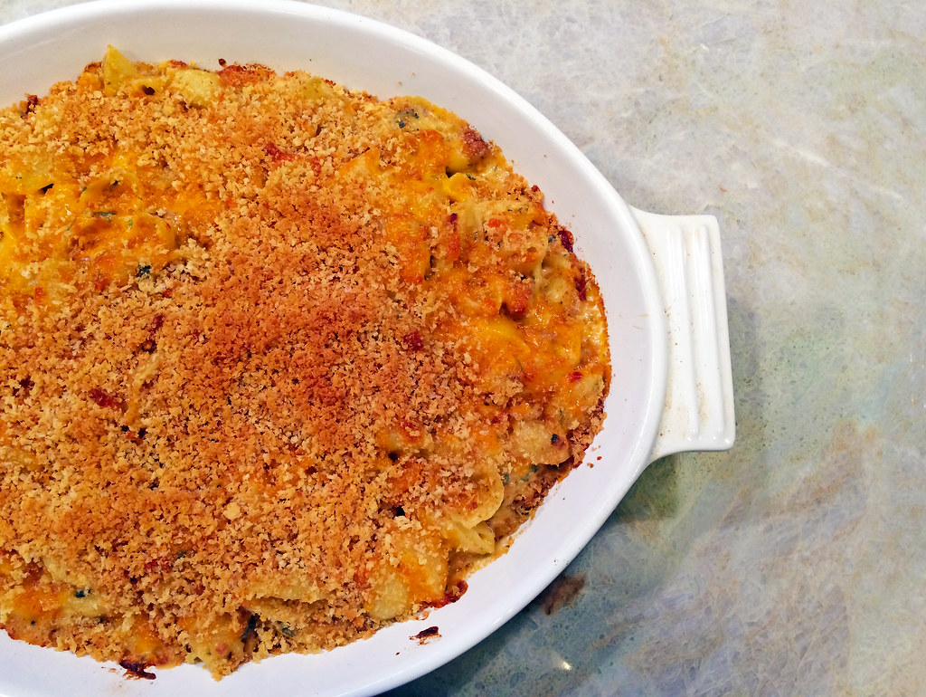 Andouille mac and cheese