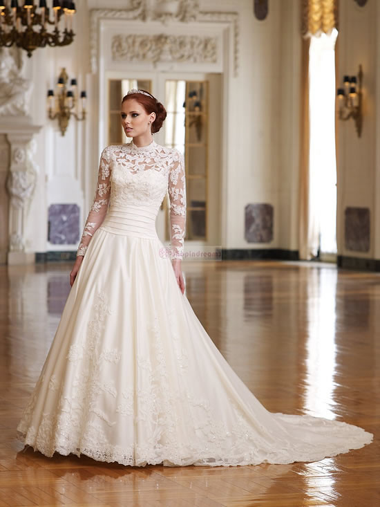 Victorian Style Wedding Dresses with Sleeves