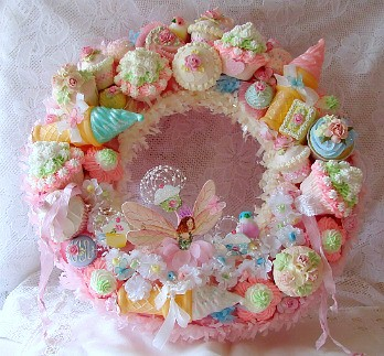 """The Cupcake Fairy"" Wreath 