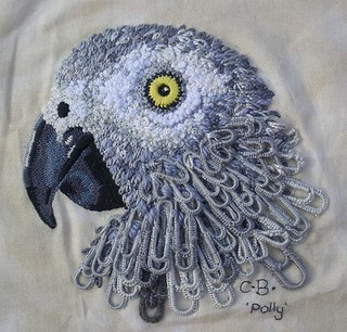 Embroidered Paperclip Parrot | by hanging-by-a-thread