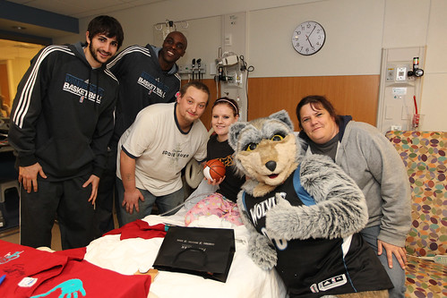 Crunch and friends visit hospital | by Wolves Flickr