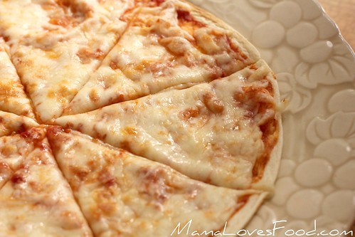 Thin and Crispy Tortilla Pizza | by MommyNamedApril