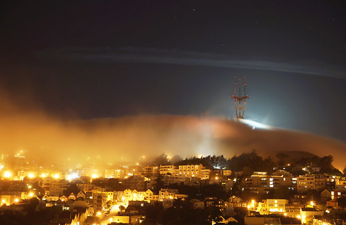 Sutro Tower - Moonset eclipsed | by trophygeek