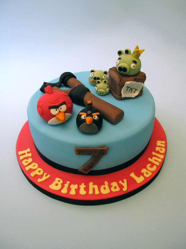 angry birds cake brilliant boys cakes flickr 1307