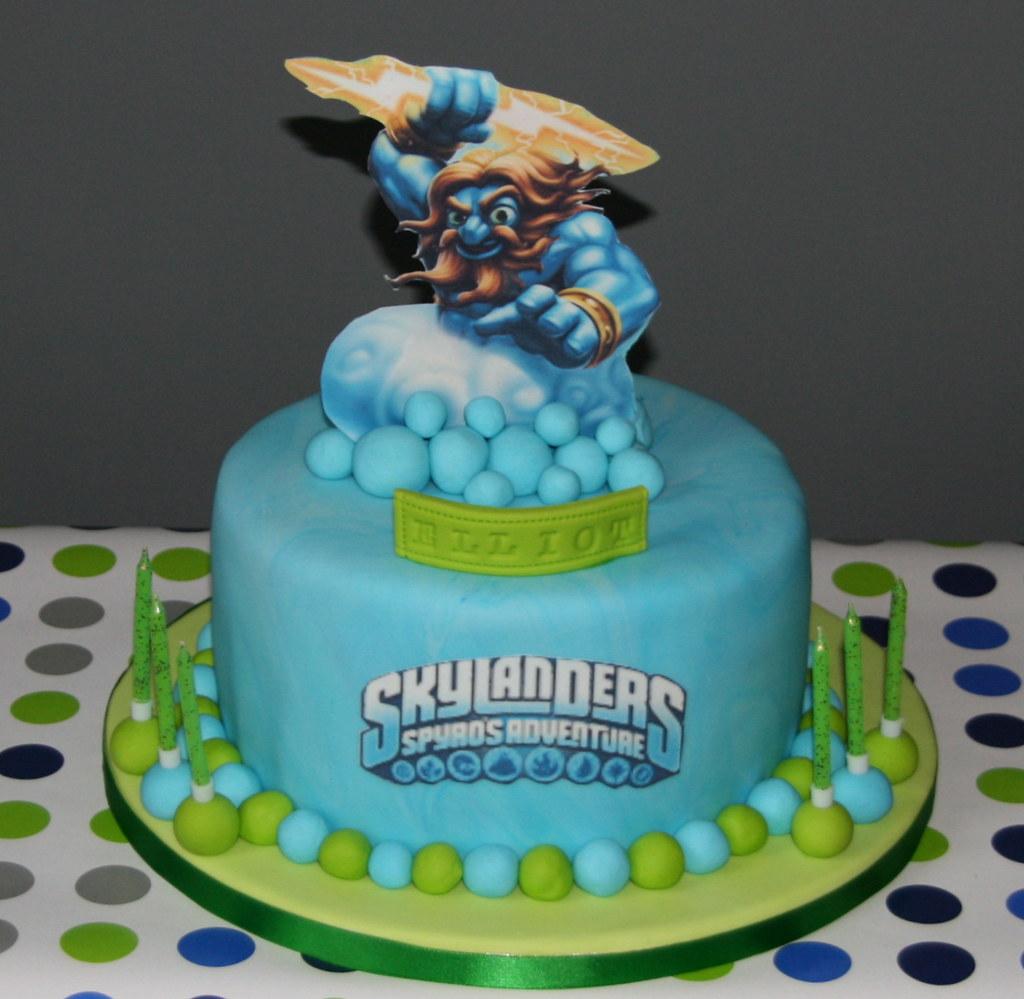 Skylanders Cake Double chocolate Skylanders cake for the Flickr