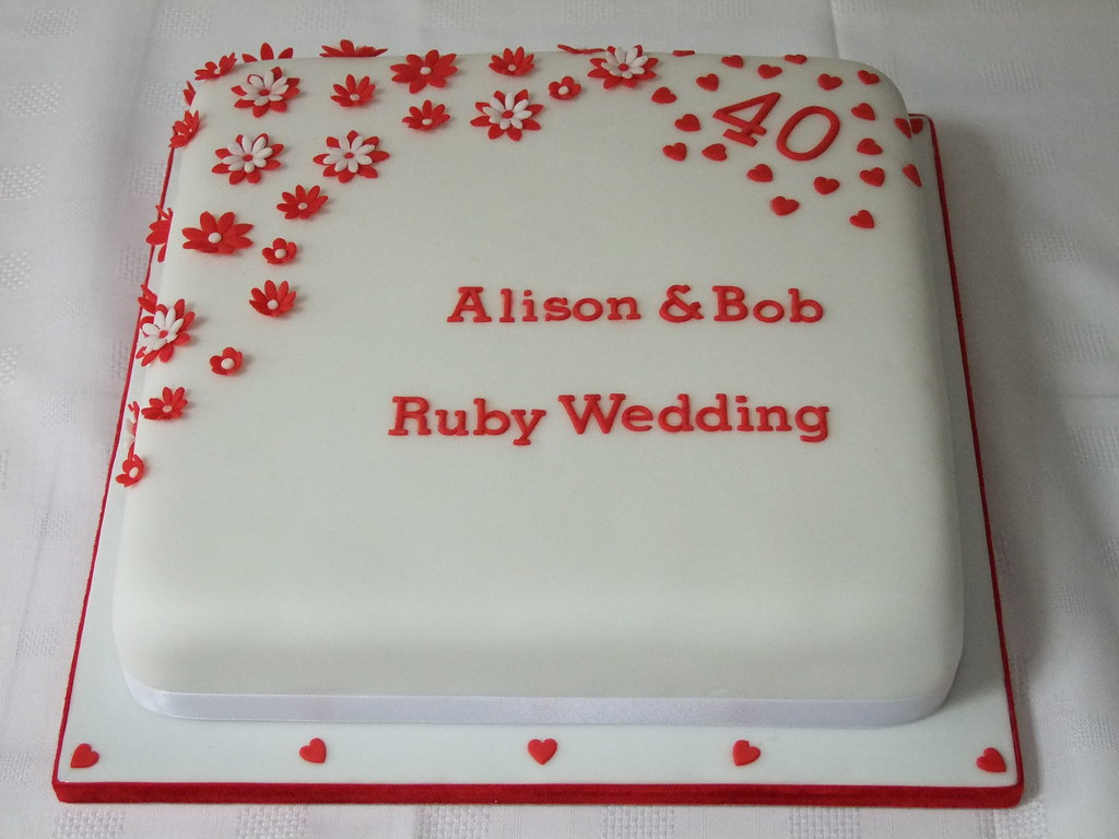 Ruby Wedding Anniversary Cake | All cakes created by The Cak… | Flickr