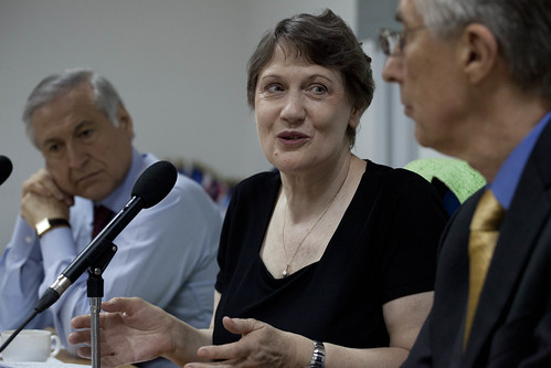 Heraldo Munoz, Helen Clark and Nigel Fisher meet with the UN country team | by United Nations Development Programme