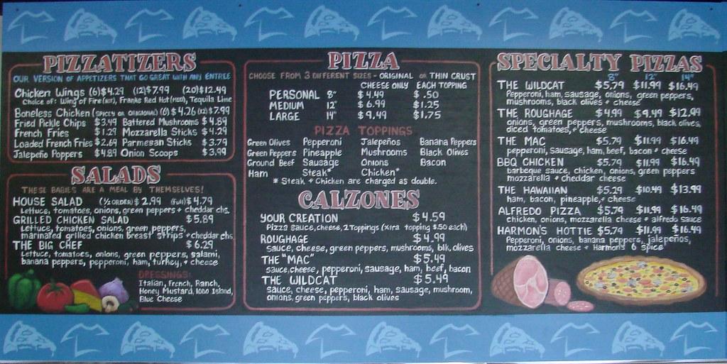 Harmon's Pizza Chalkboard Menu Board | 6' x 3' Chalkboard me… | Flickr