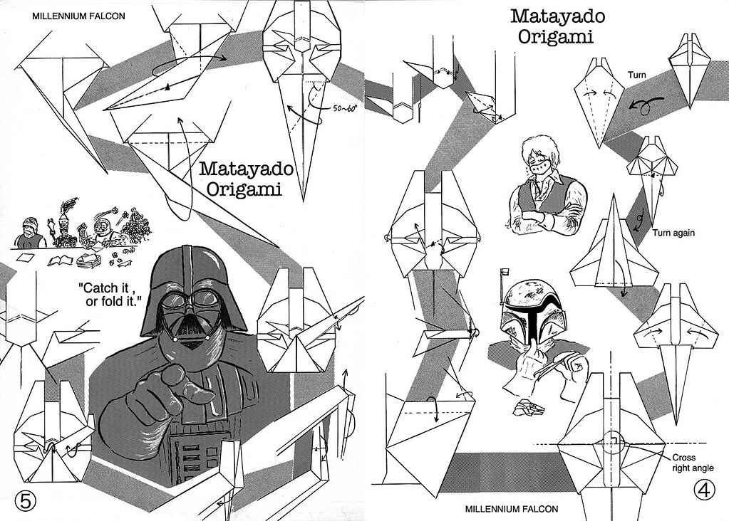 Millennium Falcon Origami Diagram 3 If You Finished To Fol Flickr