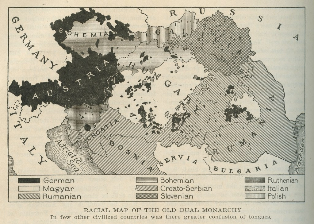 Racial map of the old dual monarchy 1920 from austria h flickr racial map of the old dual monarchy 1920 by eric fischer gumiabroncs Image collections