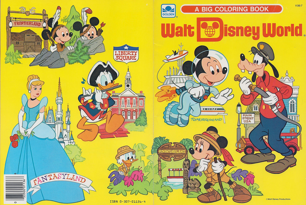 Walt Disney World Coloring Book, 1983 | Kerry | Flickr