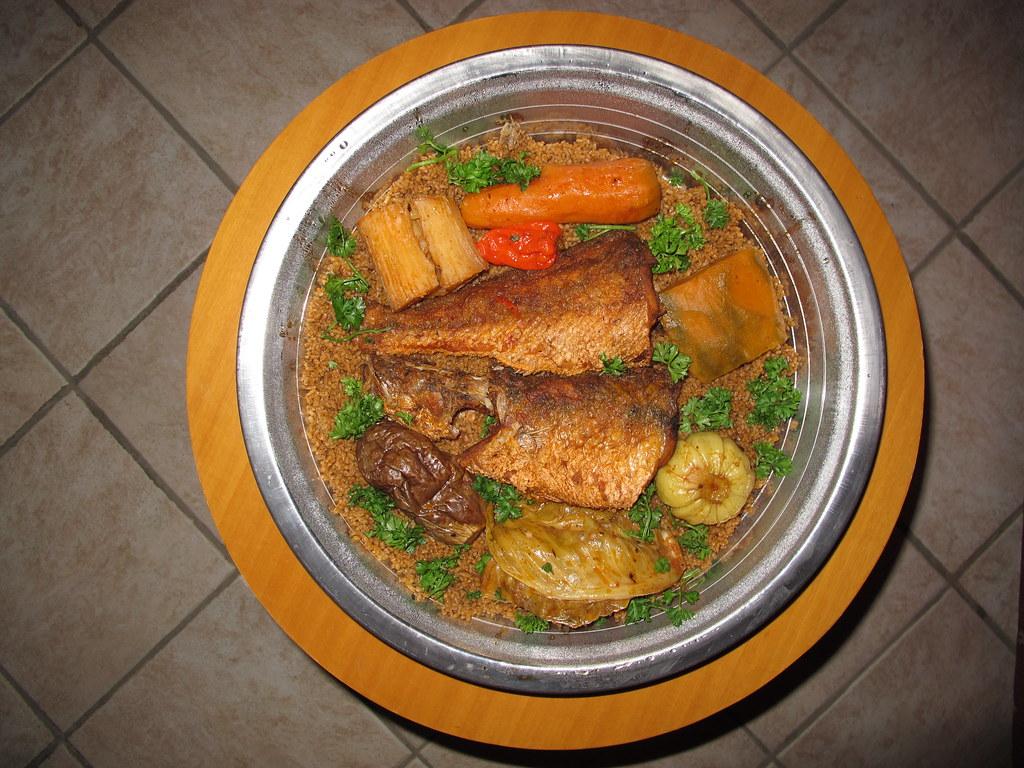 Jollof Rice West African Food Dish Chicken Nahrung Essen