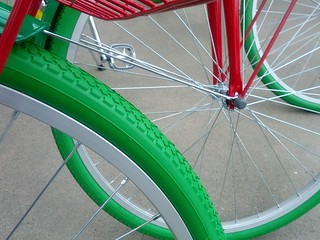Google Bikes Arrive on Campus: Tires | by Hugger Industries