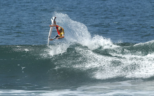 California's Kolohe Andino narrowly missed out on a Round 1 win. | by Rip Curl