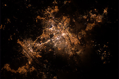 Johannesburg at night, from the ISS | by europeanspaceagency