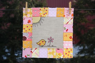Bright and Cheery Bird | by Erin @ Why Not Sew? Quilts