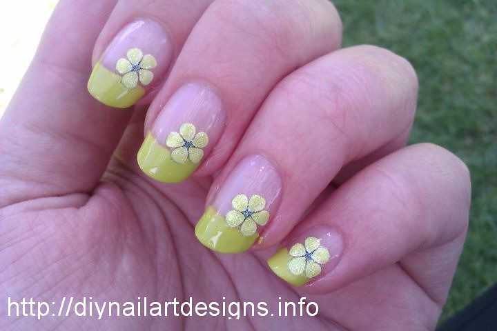 Easy DIY Nail Art Designs: Lime Green French Tip with Flow… | Flickr