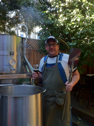 Overseeing the boil | by Elizabeth Street Brewery