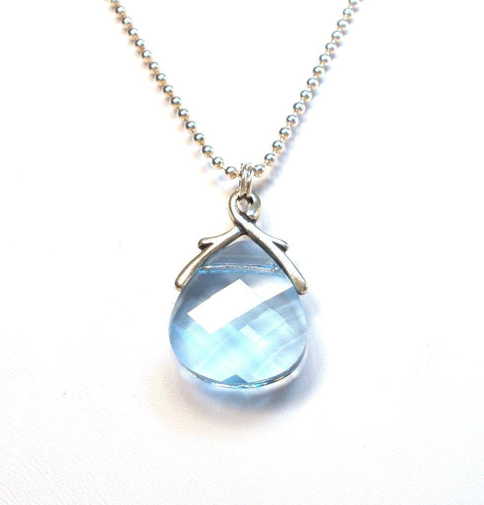 maine necklace birthstone sterling aquamarine silver march in