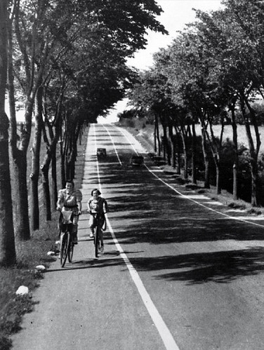 Bike Lanes on Country Roads 1930s | by Mikael Colville-Andersen