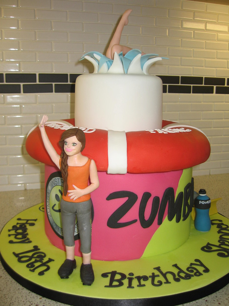 Zumba Life Ring Birthday Cake Staceys Cakes Flickr