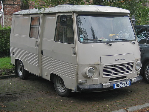 1970s peugeot j7 campervan note the double sliding doors. Black Bedroom Furniture Sets. Home Design Ideas