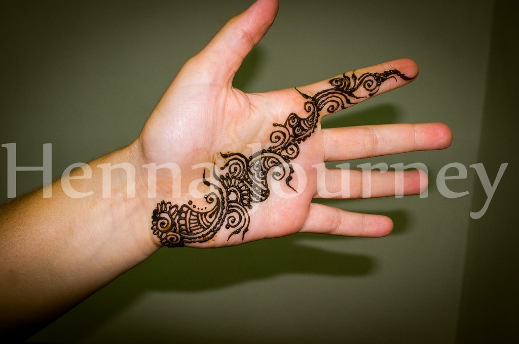 Floral Henna Palm Strap Simple Hand Mehndi Design Flickr