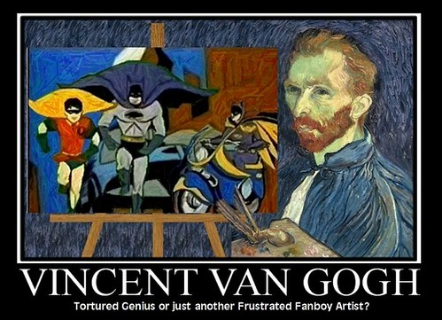 All VINCENT VAN GOGH really wanted to do was draw Batman Comics | by DarkJediKnight