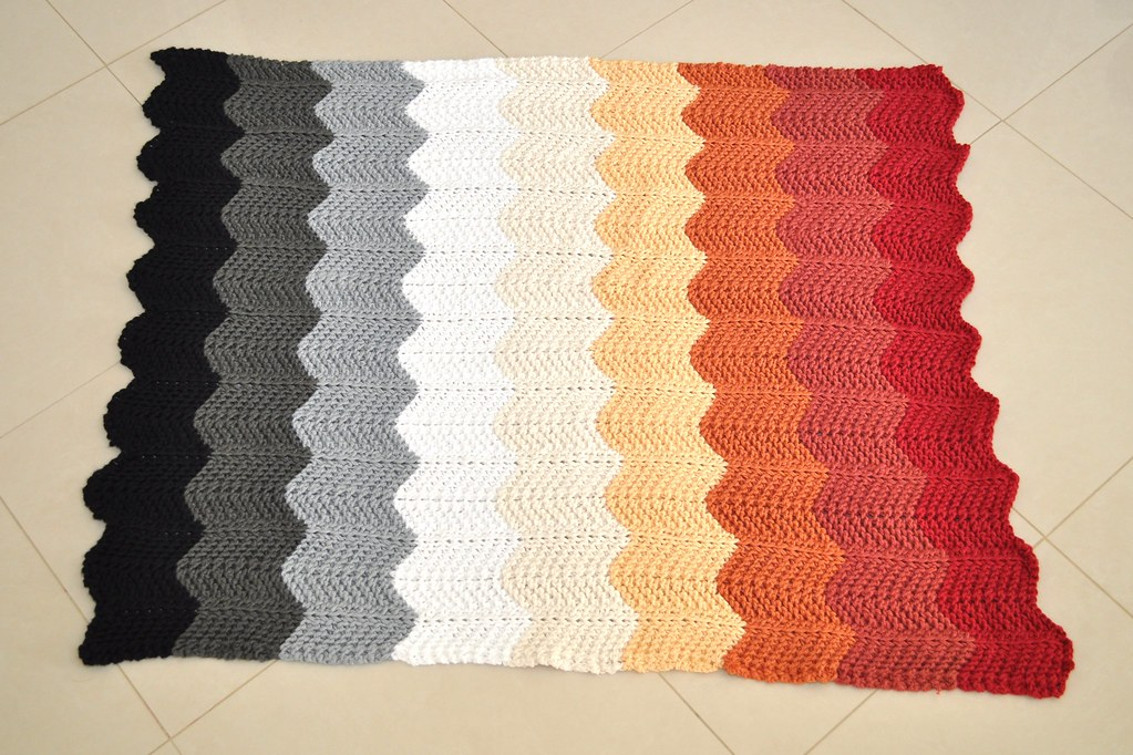 Knitted Chevron Baby Blanket By Purl Bee I Followed The Pu Flickr